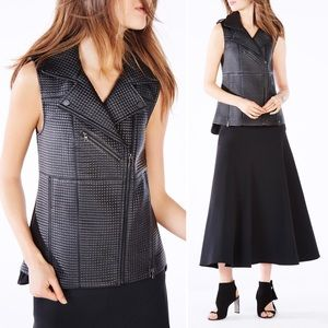 BCBGMAXAZRIA Xander Quilted Faux Leather Vest